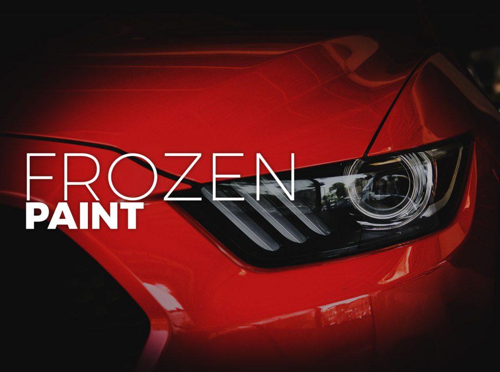 Frozen car spray paint or matte car spray paint